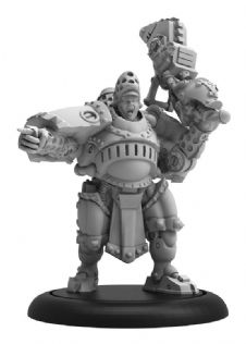 Man-O-War Bombardier Officer  Khador Command Attachment (resin/metal)